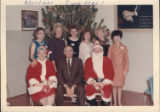 International President Roy Siemiller with Christmas Committee (Ladies Auxiliary 9?) group, 1967