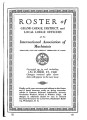 Roster of Grand Lodge, District, and Local Lodge Officers, 1940-10-15