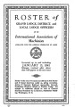 Roster of Grand Lodge, District, and Local Lodge Officers, 1941-01-15