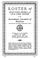 Roster of Grand Lodge, District, and Local Lodge Officers, 1939-07-15