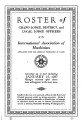 Roster of Grand Lodge, District, and Local Lodge Officers, 1937-01-15
