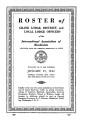 Roster of Grand Lodge, District, and Local Lodge Officers, 1944-01-15