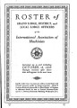 Roster of Grand Lodge, District, and Local Lodge Officers, 1935-10-15