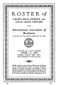 Roster of Grand Lodge, District, and Local Lodge Officers, 1939-04-15