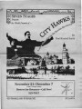 "Paul Kimball Smith's ""City Hawks,"" program of the production at 7 Stages Theatre,..."