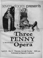 "Bertolt Brecht's ""The Three Penny Opera,"" program of the performance at 7 Stages..."