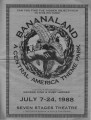 """Bananaland: A Central America Theme Park,"" program announcing the performance art piece..."