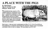 "Postcard announcing four special performances of Athol Fugard's ""A Place with the Pigs,""..."