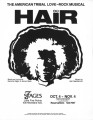 """Hair,"" music by Galt MacDermot, flyer announcing performances at 7 Stages Theatre,..."