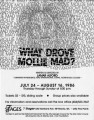 "Flyer and press releases for Lamar Alford's ""What Drove Mollie Mad"" at 7 Stages Theatre,..."