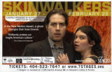 """Skinwalkers,"" by Murray Mednick, poster promoting performances at 7 Stages Theatre,..."
