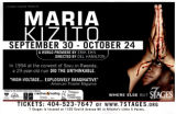 """Maria Kizito,"" by Erik Ehn, poster advertising performance at 7 Stages Theatre,..."