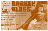"""Broken Glass,"" a play by Arthur Miller, poster advertising the performance at 7 Stages..."