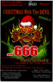 """Christmas With the Devil and 666,"" by the Little Five Points Rockstar Orchestra, poster..."