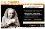 "Eugene Ionesco's ""The Chairs,""directed by Prodan Dimov, poster advertising the..."