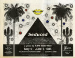 """Seduced,"" a play by Sam Shepard, poster advertising the performance at 7 Stages..."