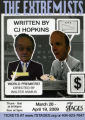 "C.J. Hopkins' ""The Extremists,"" postcard announcing the performance at 7 Stages Theatre,..."