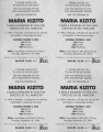 """Maria Kizito,"" by Erik Ehn, opening night invitation and daily box office records for..."