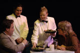 Clay Martin and Dena Malon (seated), being served by Denise Arribas and Mary Claire Dunn, in the 7...