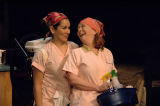 "Denise Arribas and Mary Claire Dunn in the 7 Stages Theatre's production of ""Nickel and..."