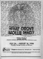 """What Drove Molly Mad?"" by Lamar Alford, program for the performance at 7 Stages..."