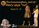 "Celeste Miller's ""The Annunciation... Sort of: Mary Says 'No',"" postcard announcing the..."