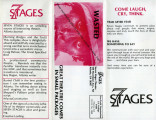 Fundraising brochure for 7 Stages Theatre, Atlanta, Georgia, 1984 or 1985. (1 leaf, folded 3 times)