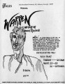 "Flier and press releases for Rebecca Ranson's ""Warren,"" 7 Stages Theatre, Atlanta,..."