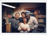 "Cast of Bernard-Marie Koltes' ""Black Battles with Dogs"" backstage, 7 Stages Theatre,..."