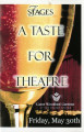 """A Taste for Theatre,"" program for the wine tasting and silent auction to benefit 7..."
