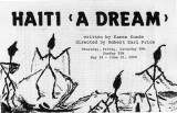 """Haiti (A Dream),"" by Karen Sunde, program for the performance at 7 Stages Theatre,..."