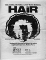 "Program for 7 Stages Theatre production of the rock musical ""Hair,"" Atlanta, Georgia,..."
