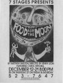 """Food for the Moon,"" by Matthew Shelton, flyer announcing the performance at 7 Stages..."