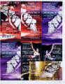 "Proof-sheet of 7 different flyers for the performance of ""Iphigenia Crash Land Falls on the..."