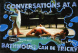 "Postcard announcing the three-day run of Jim Chappeleaux's ""Conversations at a Bathhouse Can..."