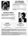 Flyer advertising a concert and a poetry reading, Ginni Clemmens and Franklin Abbot performing in...