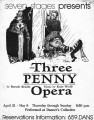 "Bertolt Brecht's ""The Three Penny Opera,"" poster advertising the performance at 7 Stages..."