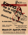 "Adam Small's ""Kanna, He Is Coming Home,"" poster advertising the performance at 7 Stages..."