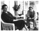 "Faye Allen and Del Hamilton on stage in Arthur Miller's ""All My Sons,"" directed by..."