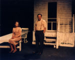 "Rachel Fowler and Del Hamilton on stage in ""All My Sons,"" by Arthur Miller, directed by..."