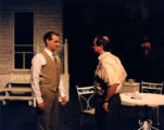 "Jim Roof and Del Hamilton on stage in Arthur Miller's ""All My Sons,"" directed by Joseph..."