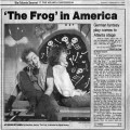 "Theater review:  ""The Frog in America, German fantasy play comes to Atlanta stage,"" by..."