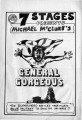 "Michael McClure's ""General Gorgeous,"" program for the performances at 7 Stages Theatre,..."