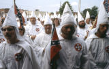 "Ku Klux Klan protesting ""Bang Bang Über Alles,"" an anti-KKK musical at 7 Stages Theatre,..."