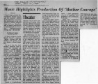 "The Atlanta Constitution review of Bertolt Brecht's ""Mother Courage and Her Children,""..."