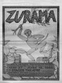 "Judi Kearns' play ""Zurama,"" program for the 7 Stages Theatre production, Atlanta,..."