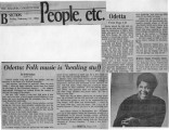 """Odetta: Folk music is 'healing stuff',"" by Keith Graham.  The Atlanta Constitution,..."