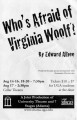 "Edward Albee's ""Who's Afraid of Virginia Woolf?,"" directed by Del Hamilton, program for..."