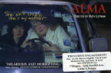 "Ruth Leitman's documentary film ""Alma,"" postcard announcing one-week showing at 7 Stages..."