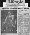 """Legend of Junebug Jabbo Jones,"" by Paula Crouch.  In The Atlanta Journal, January 16,..."